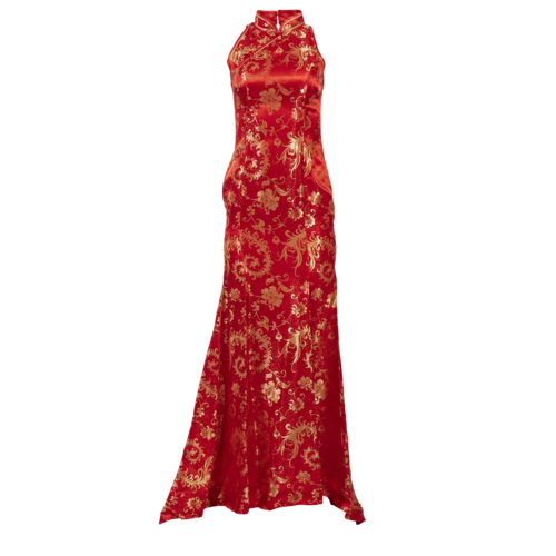 Boutique Traditional Chinese Satin Gown