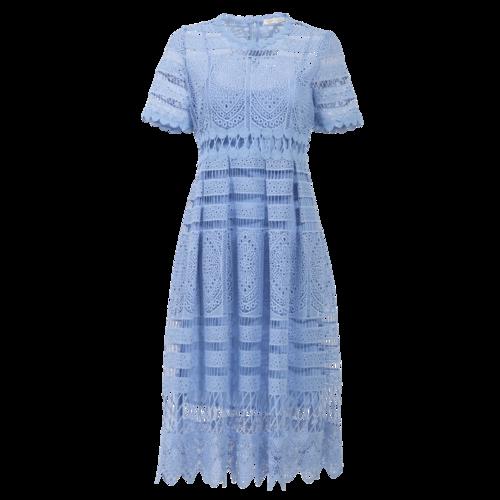 Maje Blue Crochet Dress with Slip