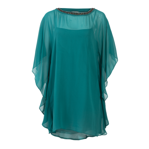 Trina Turk Green Poncho Tunic with Slip
