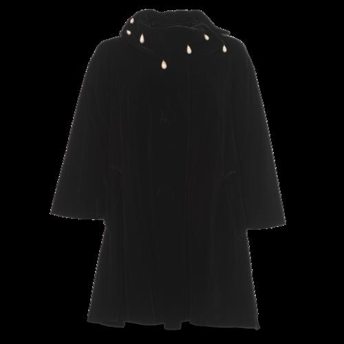 Saks Fifth Avenue Vintage Saks Fifth Avenue Velvet Jacket With Teardrop Pearls
