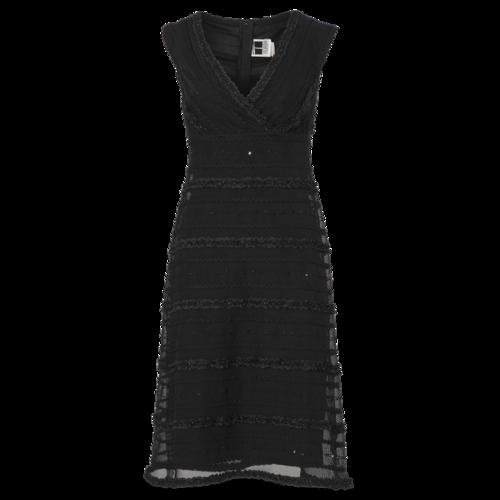 Tadashi Shoji Vintage Black Off Shoulder Dress With Sequins
