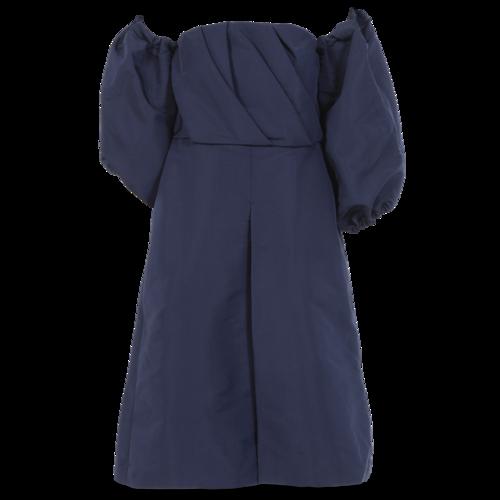 Custom Made Custom-Made Blue Off-the-Shoulder Culotte Jumpsuit