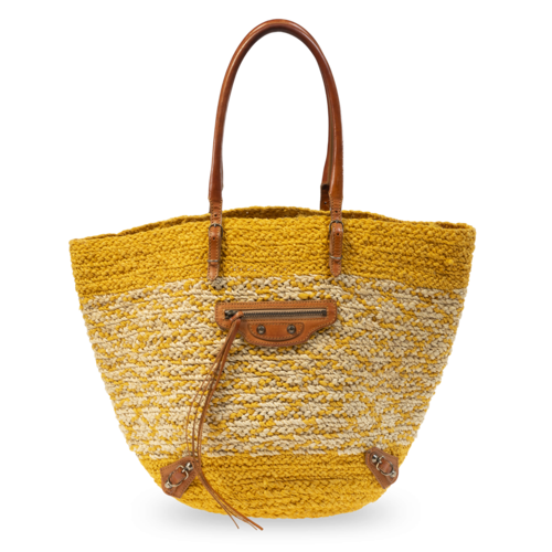 Balenciaga Yellow Straw Beach Bag