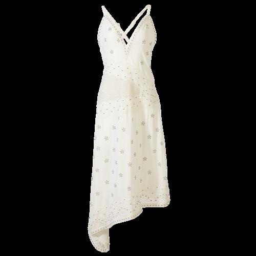 Ramy Brook White Embellished Dress