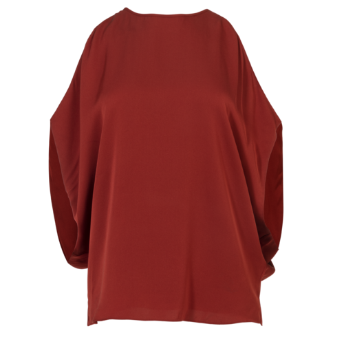 Theory Silk Cold-Shoulder Top