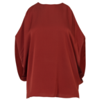 Silk Cold-Shoulder Top