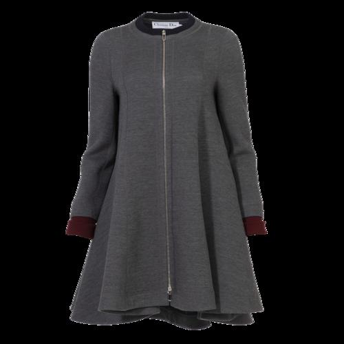 Dior Christian Dior Grey Wool Coat