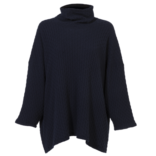 Hania New York Navy Cashmere Cable Sweater