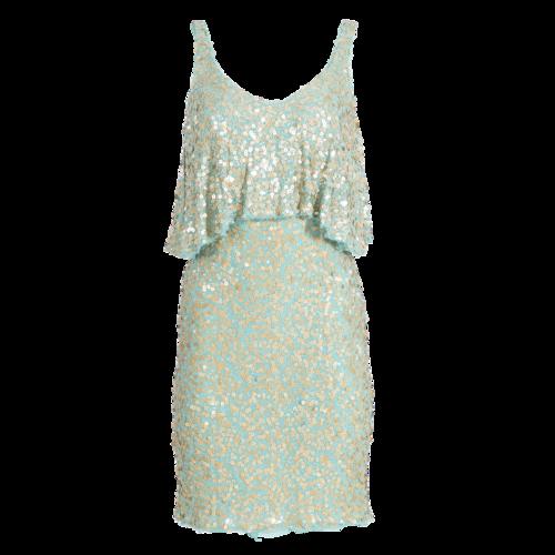 Badgley Mischka Gold Sequin Dress