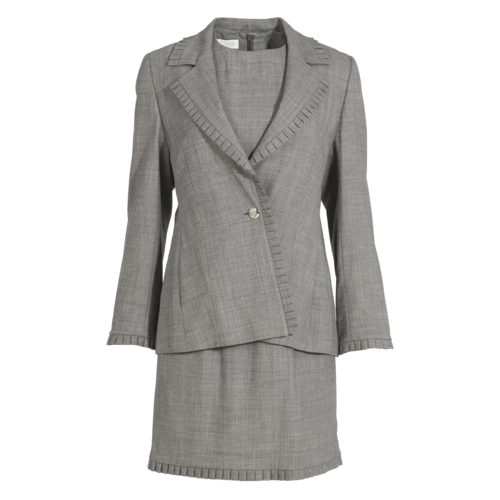 Escada Gray Dress Suit