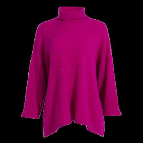 Hania New York HANIA by Anya Cole Fuchsia Cashmere Knit Sweater