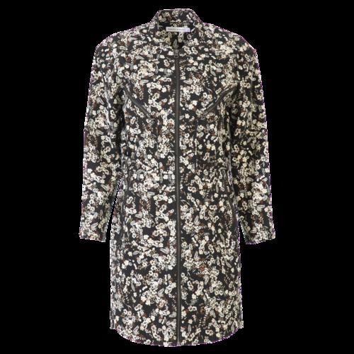Rebecca Minkoff Denim Floral Coat with Zippers