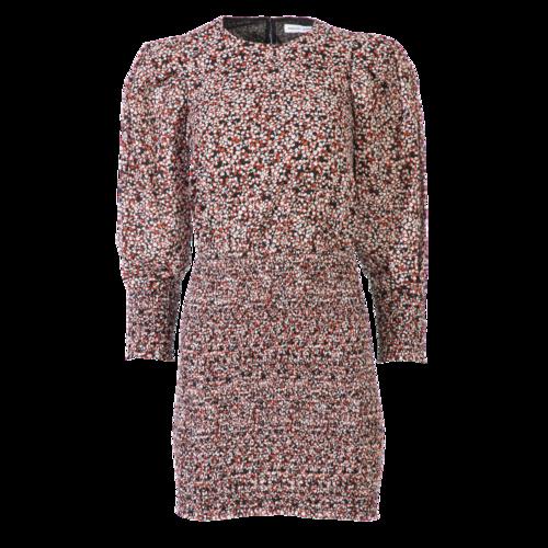 Rebecca Minkoff Pink Floral Puff Sleeve Dress