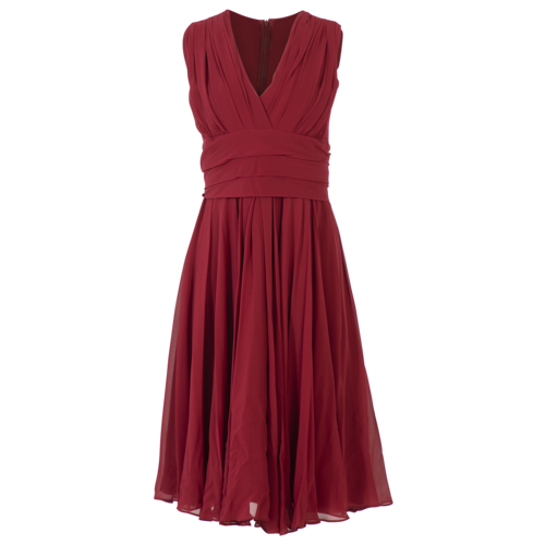 Max Mara Red Surplice Sleeveless Dress