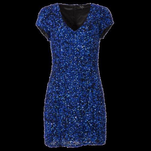 Parker Blue Sequin Mini Dress