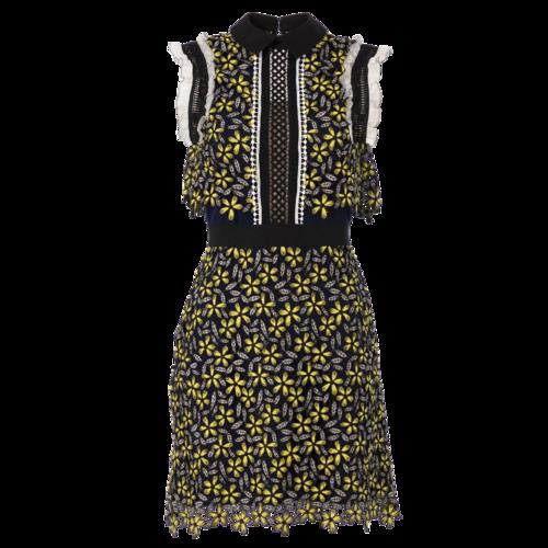 Self-Portrait Backless Floral Print Dress