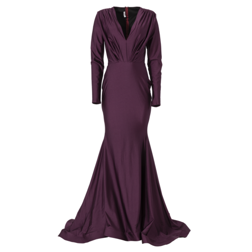 Custom Made Custom-Made Plum Evening Gown