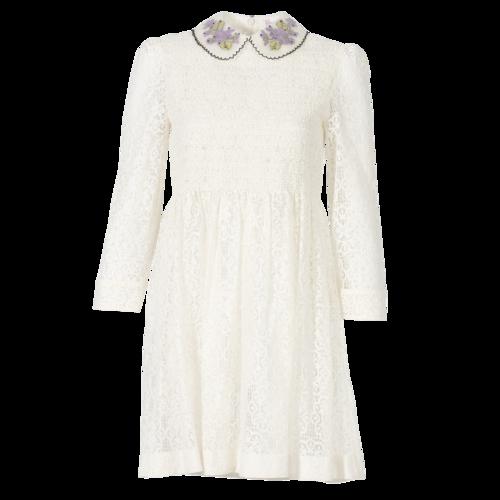 Valentino REDValentino Cream Lace Dress with Peter Pan Collar