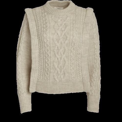 Isabel Marant Etoile Long-Sleeve Cable Knit Sweater