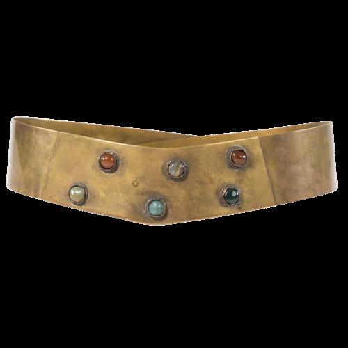 Custom Made Vintage Superhero Bronze Belt with Gems