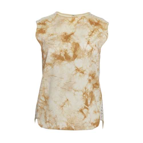 3.1 Phillip Lim Leather-Trimmed Tie Dye Top