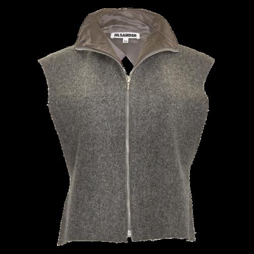 Jil Sander Zippered Open-Back Vest