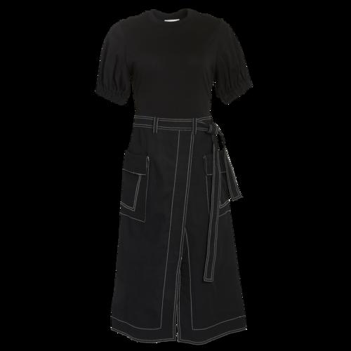 3.1 Phillip Lim Black Dress with Contrast Threading