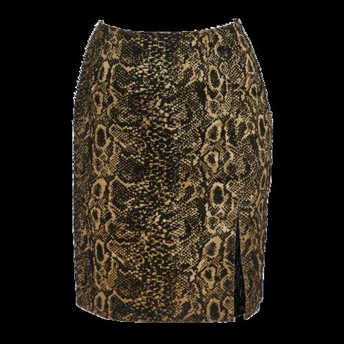 Yves Saint Laurent Vintage Yves Saint Laurent Snakeskin Print Skirt