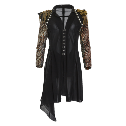 Custom Made Gothic Tunic with Military Spike Shoulder Epaulettes