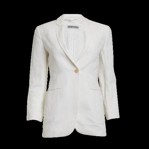 Emporio Armani Cream Linen Blazer