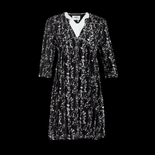 ba&sh Black Floral Metallic Thread Mini Dress