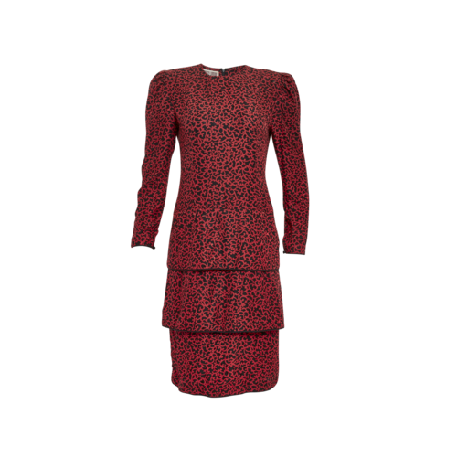 Maggy London by Jeannene Booher Red & Black Printed Dress