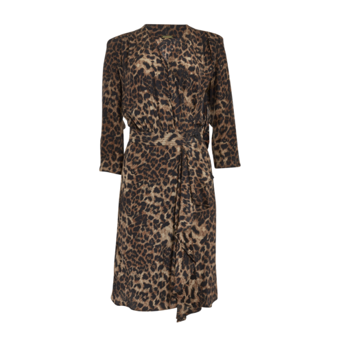 Rebecca Minkoff Leopard Print Surplice Dress