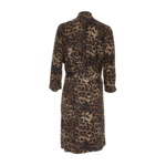 Leopard Print Surplice Dress
