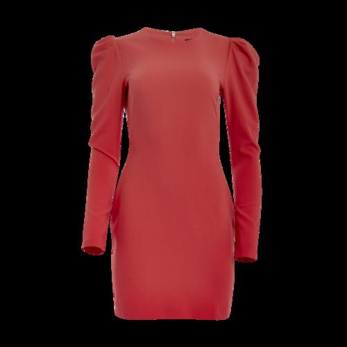 Black Halo Orange Puff-Sleeve Dress