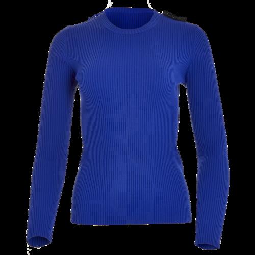 Balenciaga Long-Sleeve Blue Sweater