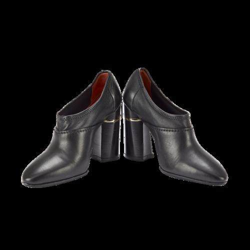 3.1 Phillip Lim Black Leather Closed-Toe Heels