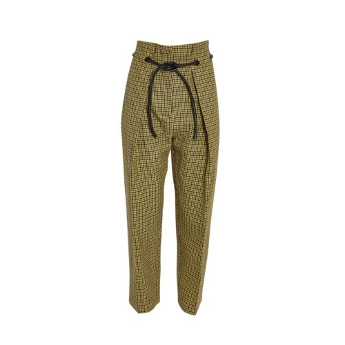 3.1 Phillip Lim Yellow Houndstooth Paperbag Pants