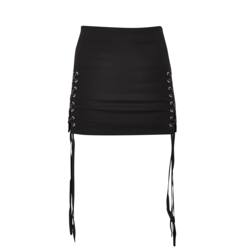 Helmut Lang Black Grommet Mini Skirt