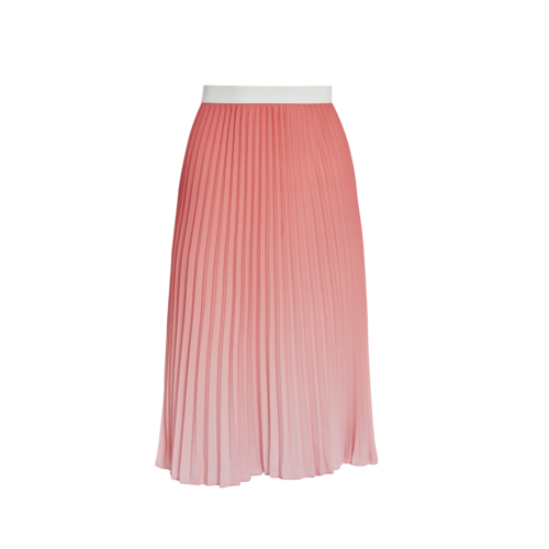 Maje Orange Pleated skirt
