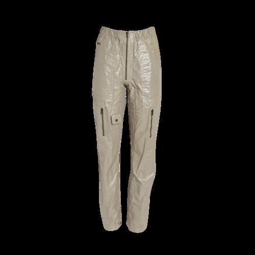 Isabel Marant Gold Shiny Cargo Pants