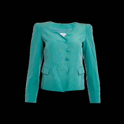Giorgio Armani Armani Collezioni Linen Collar-Less Blazer