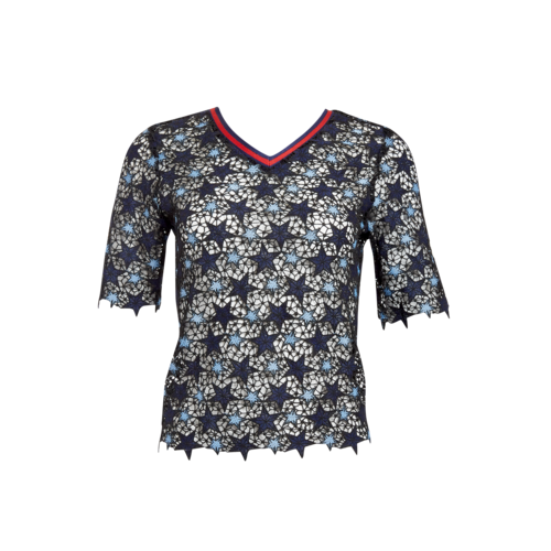 Navy Star Patterned Top
