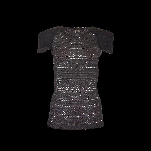 Isabel Marant Black Lace Cap-Sleeve Top