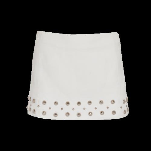 Jill Stuart White Mini Skirt with Metal Studs