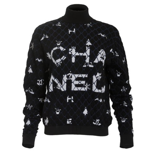 CHANEL Chanel Quilted Logo Sweatshirt