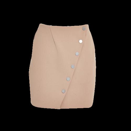 Maje Beige Button Skirt