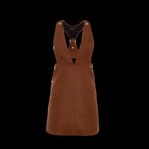 Maje Brown Pinafore Dress