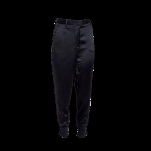 3.1 Phillip Lim Black Satin Tuxedo Pants