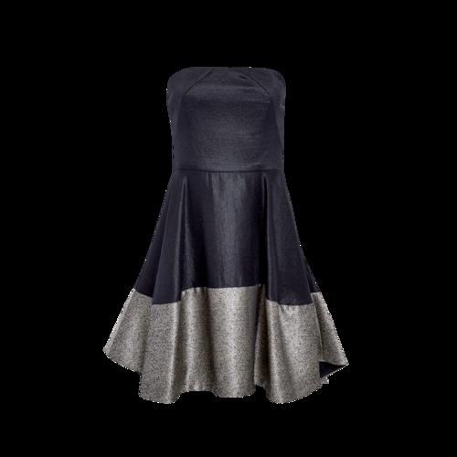 Black Halo Strapless High-Low Dress